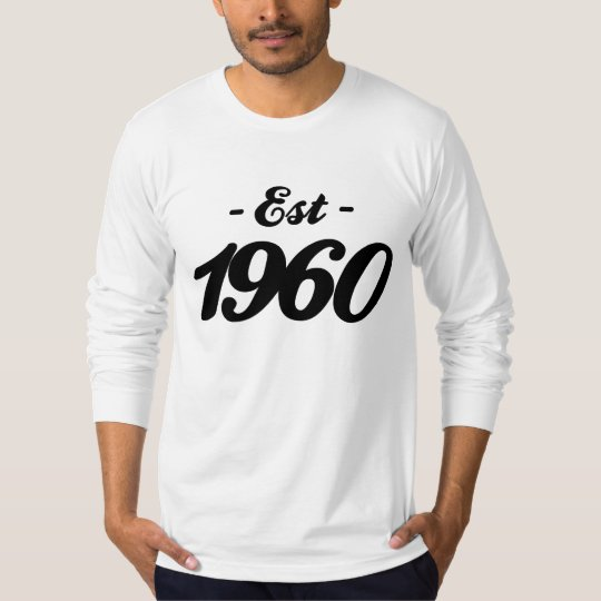 established 1960 - birthday T-Shirt