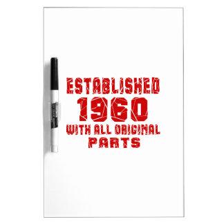 Established 1960 With All Original Parts Dry-Erase Board