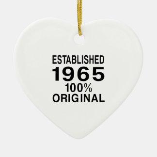 Established 1965 ceramic ornament