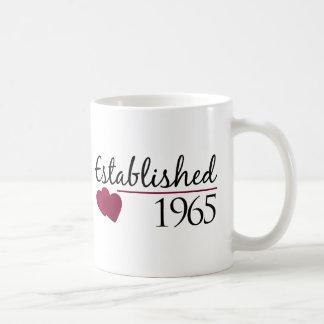 Established 1965 classic white coffee mug