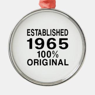 Established 1965 metal ornament
