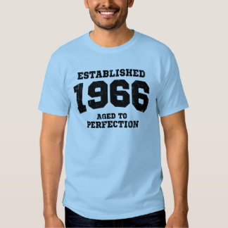 Established 1966 aged to perfection shirt
