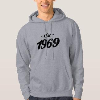 established 1969 - birthday hoodies