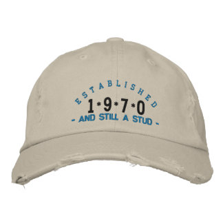 Established 1970 Stud Embroidery Hat