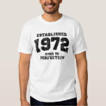 Established 1972 aged to perfection t shirt