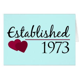 Established 1973 card