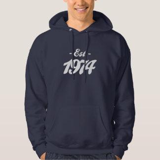 established 1974 - birthday hoodie