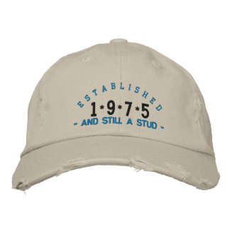 Established 1975 Stud Embroidery Hat