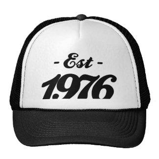 established 1976 - birthday trucker hat