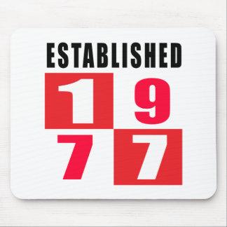 Established 1977 Birthday Designs Mouse Pad