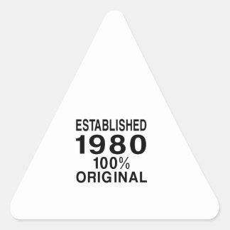 Established 1980 triangle sticker