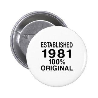 Established 1981 button