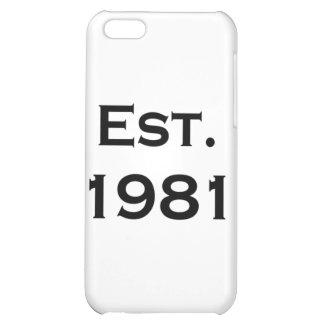 established 1981 iPhone 5C case