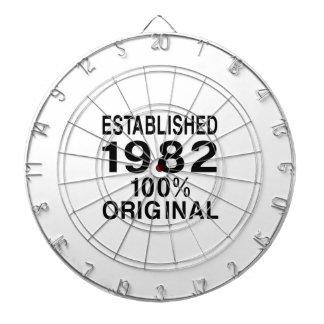 Established 1982 dart board