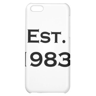 established 1983 iPhone 5C cover