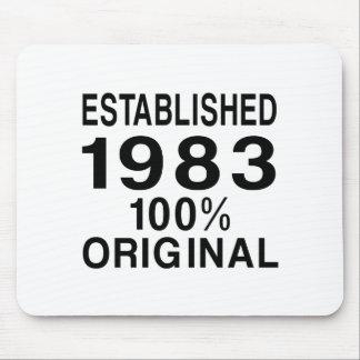 Established 1983 mouse pad