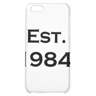 established 1984 cover for iPhone 5C