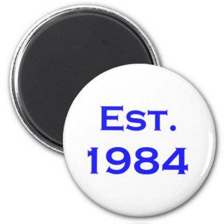 established 1984 magnets