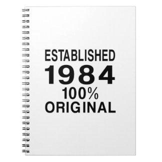 Established 1984 notebook