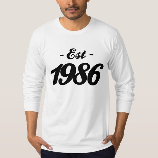 established 1986 - birthday T-Shirt