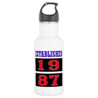 Established 1987 18oz water bottle