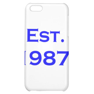 established 1987 iPhone 5C case