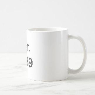 established 1989 coffee mug