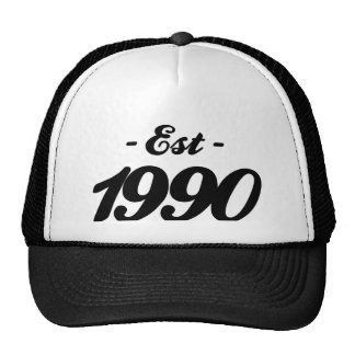 established 1990 - birthday trucker hat