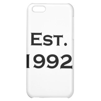 established 1992 iPhone 5C covers