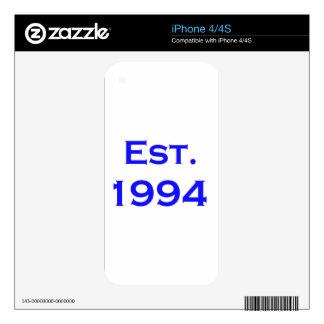 established 1994 skins for iPhone 4S