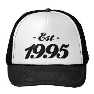 established 1995 - birthday hats