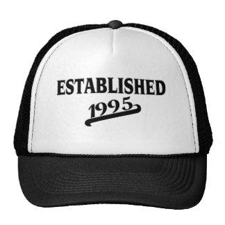 Established 1995 png mesh hats