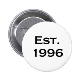 established 1996 buttons