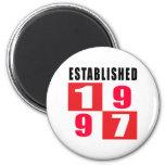 Established 1997 Birthday Designs Fridge Magnet