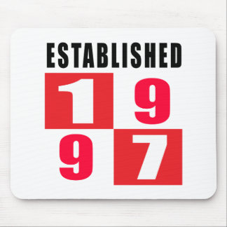 Established 1997 Birthday Designs Mouse Pad