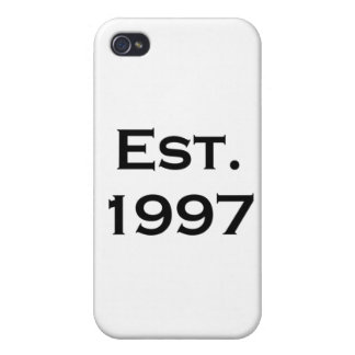 established 1997 iPhone 4/4S cover