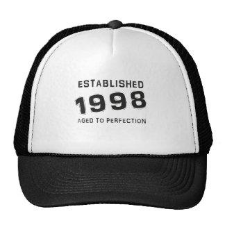 Established 1998 gorra