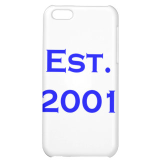 established 2001 cover for iPhone 5C
