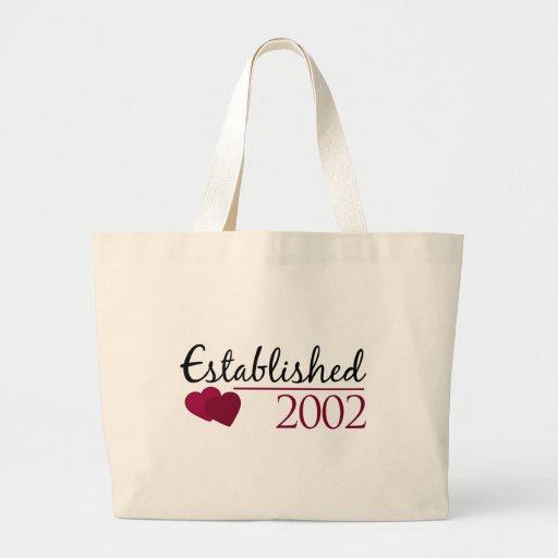 Established 2002 bag