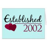 Established 2002 greeting cards