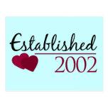 Established 2002 postcard