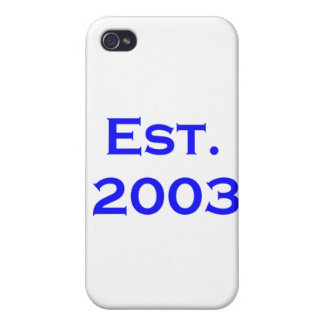 established 2003 cover for iPhone 4