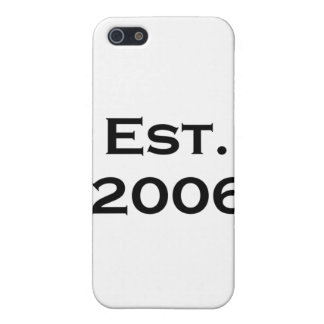 established 2006 iPhone 5 cover