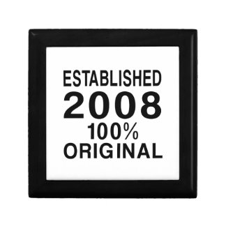 Established 2008 keepsake box