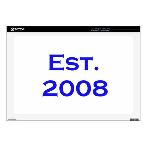 established 2008 laptop skins