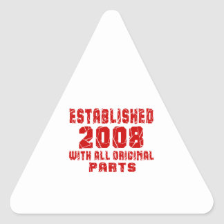 Established 2008 With All Original Parts Triangle Sticker