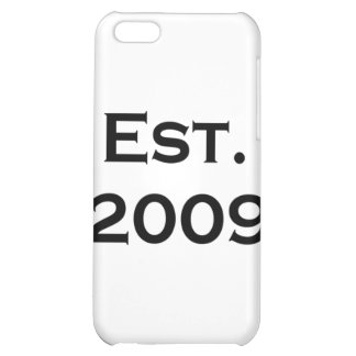 established 2009 case for iPhone 5C