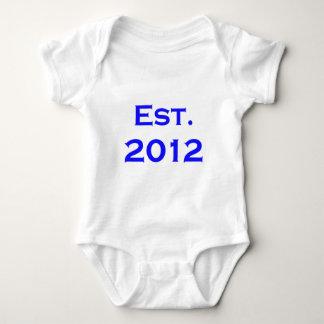 established 2012 baby bodysuit