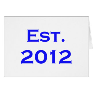 established 2012 card