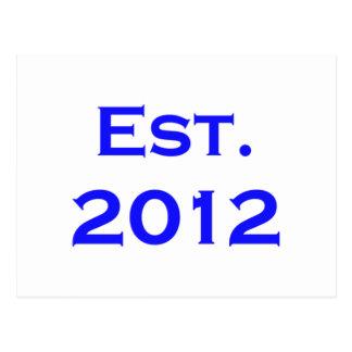 established 2012 postcard